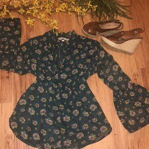 LOFT floral blouse NWOT